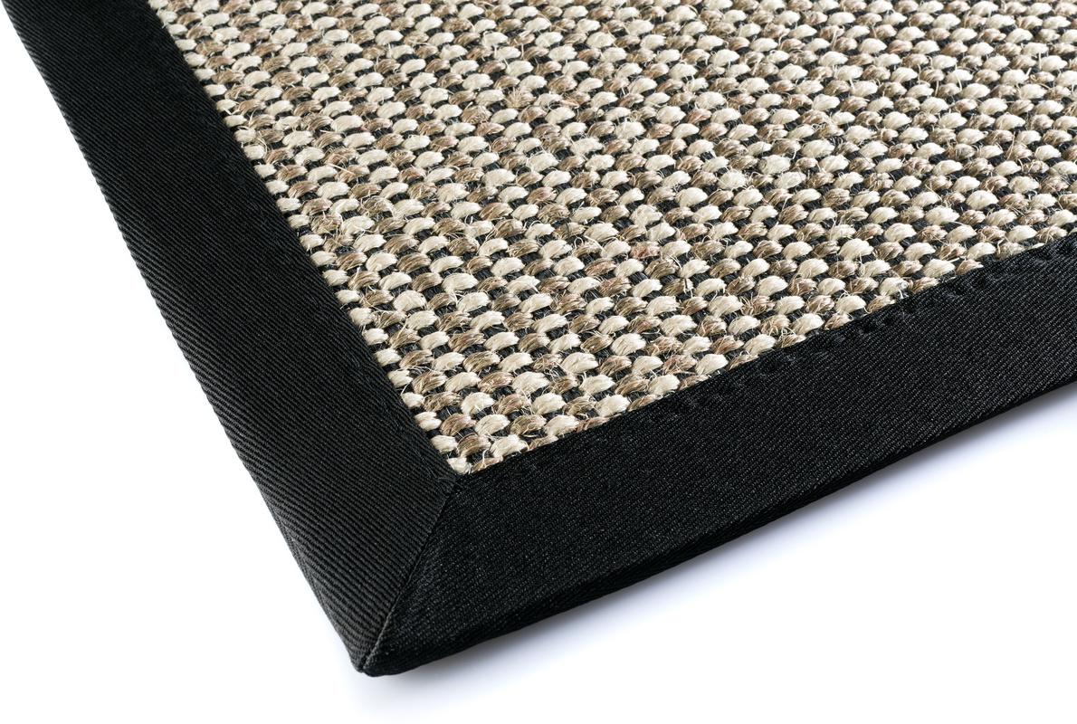 dekowe teppich brasil schwarz teppich sisalteppich bei. Black Bedroom Furniture Sets. Home Design Ideas