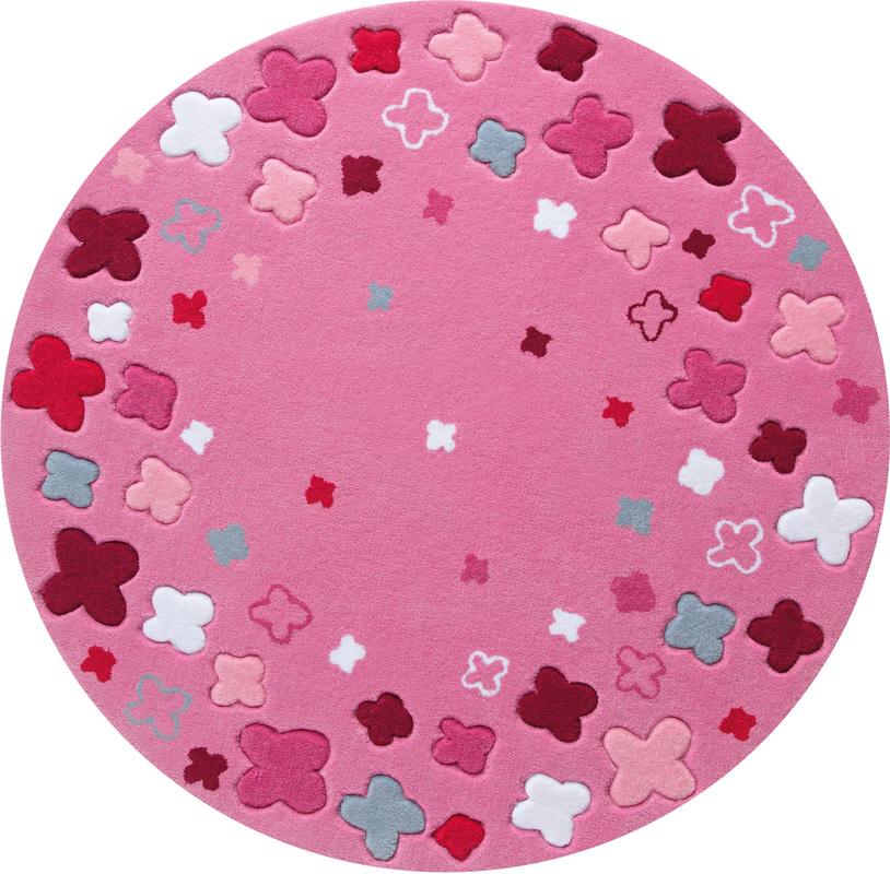 teppich kinder rund, esprit kinder-teppich, bloom field esp-2980-03 rosa/pink, Öko-tex, Design ideen