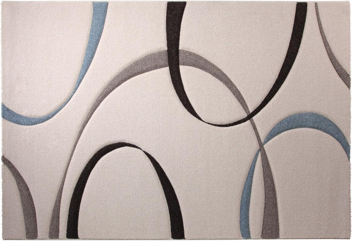 Teppich beige blau grau nativerootdesigns