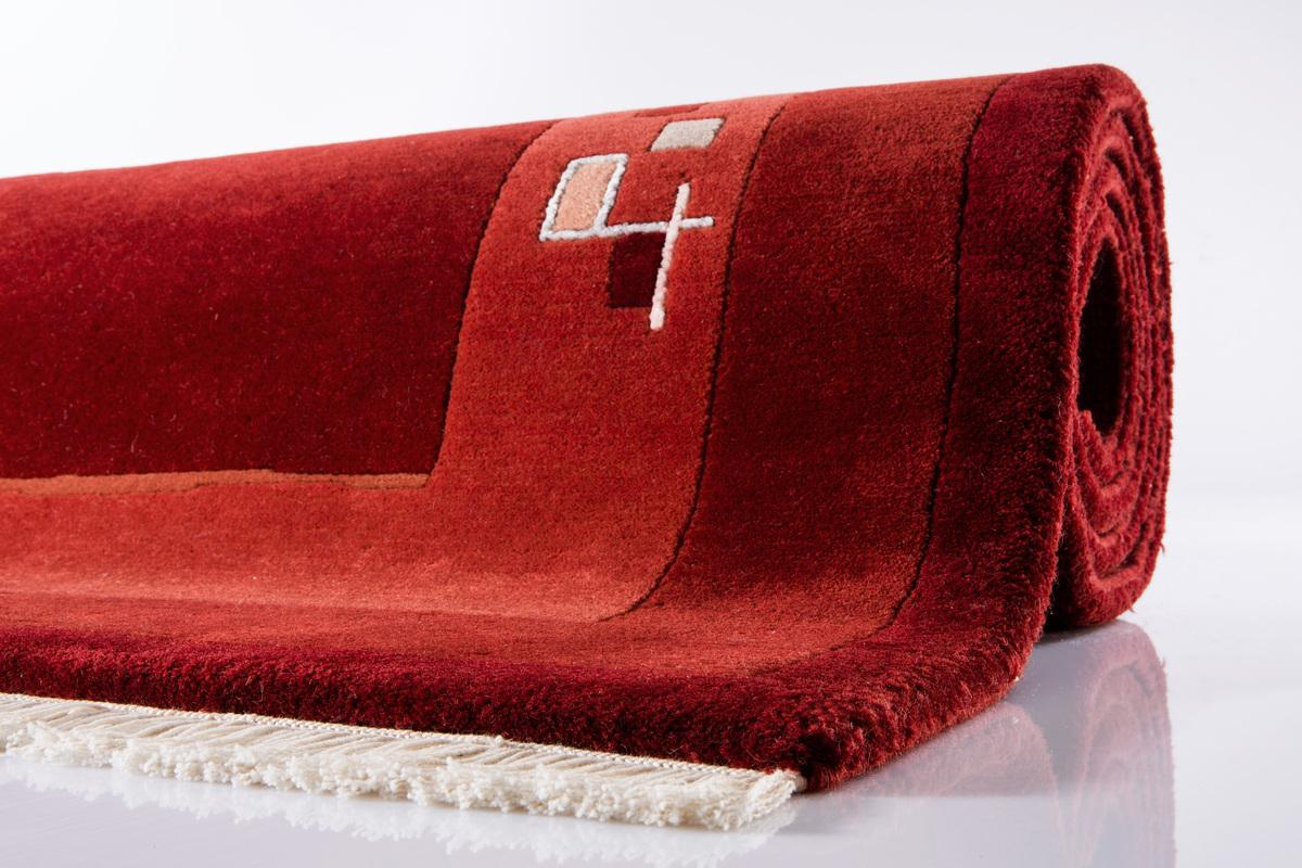ghorka excl nepal teppich 2253 rot teppich nepalteppich bei tepgo kaufen versandkostenfrei. Black Bedroom Furniture Sets. Home Design Ideas