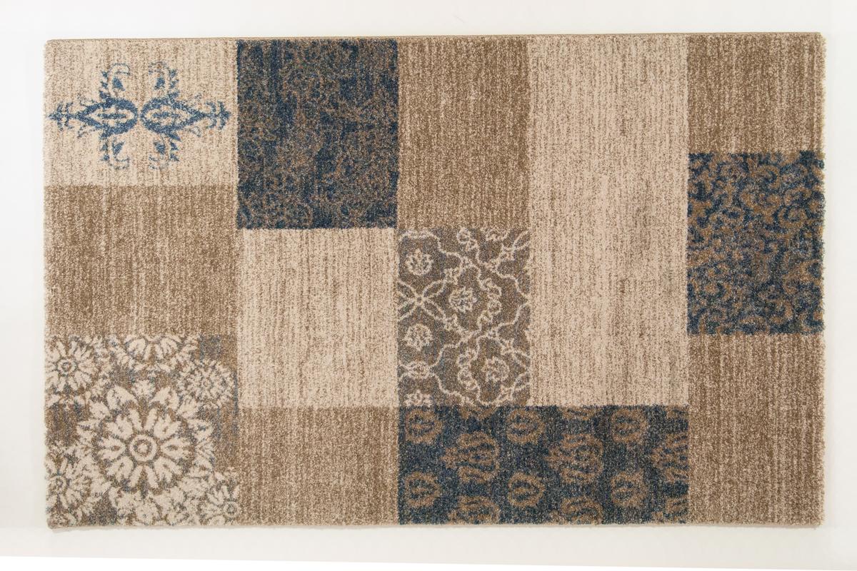 Kinderteppich blau beige  Keen Joy Maggiore beige-blau Teppich bei tepgo kaufen ...