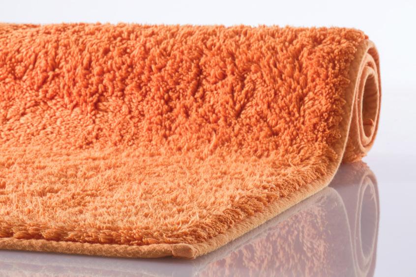 kleine wolke badematte kansas orange reine baumwolle rutschhemmender r cken badteppiche. Black Bedroom Furniture Sets. Home Design Ideas