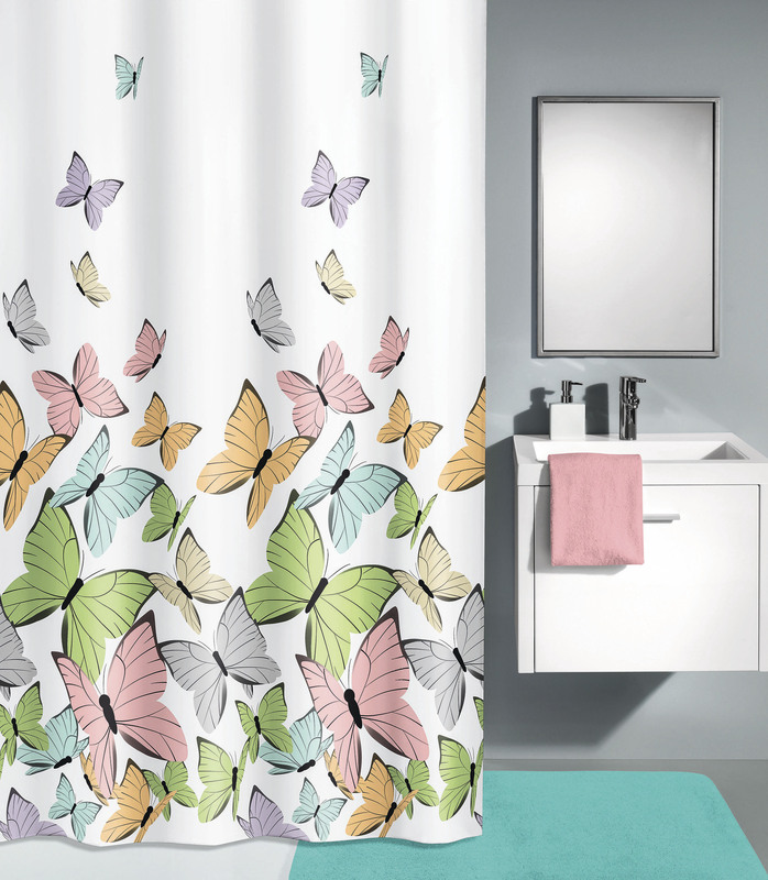 kleine wolke duschvorhang butterflies multicolor 180 x 200 cm badaccessoires duschvorhang bei. Black Bedroom Furniture Sets. Home Design Ideas