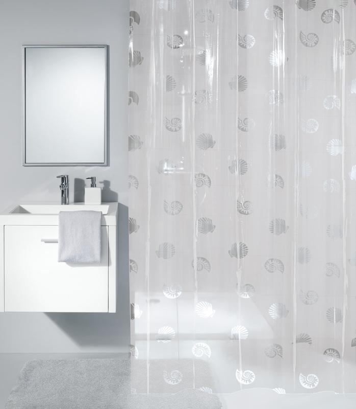 kleine wolke duschvorhang shelley clear 180 x 200 cm. Black Bedroom Furniture Sets. Home Design Ideas