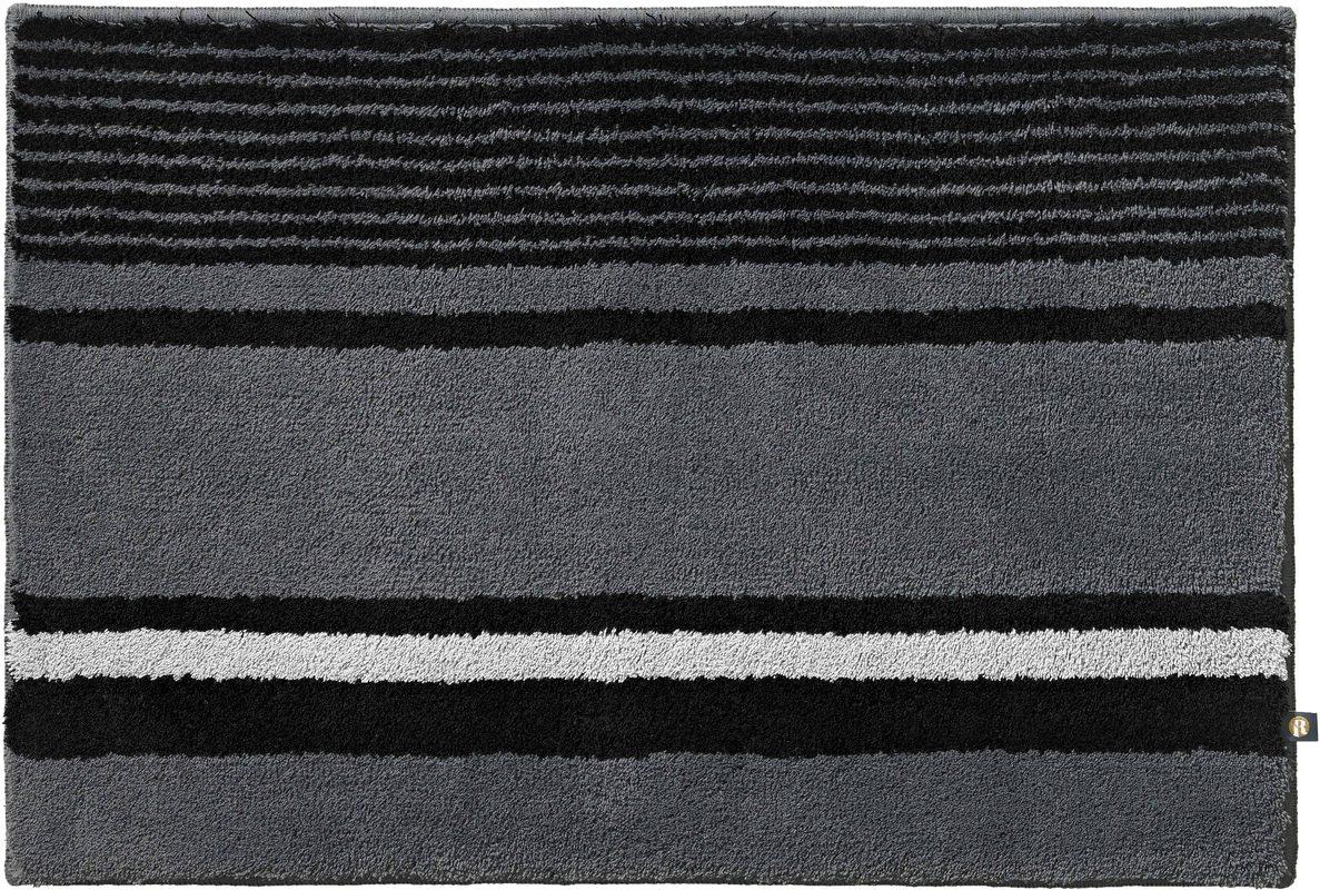 Rhomtuft badteppich maritim zink schwarz edelstahl for Teppich maritim