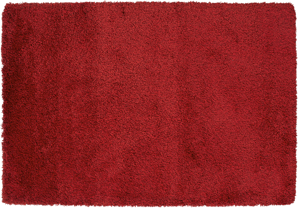 ThinkRugs Teppich Loft 01810A Rot  Hochflor Hochflor
