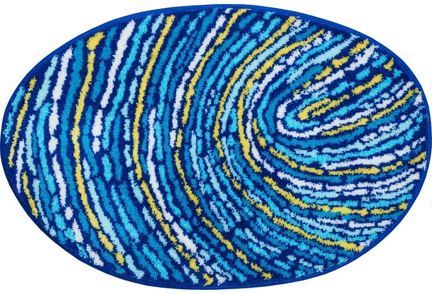 Grund Fingerprint Badteppich Blau Gelb Badteppiche Bei Tepgo Kaufen